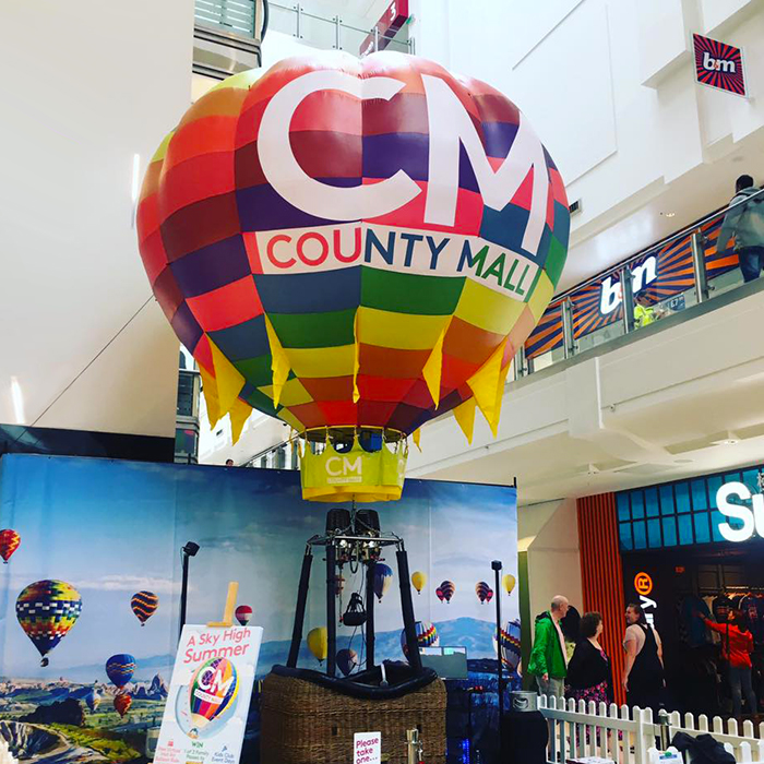 hot air balloon event within County Mall SC